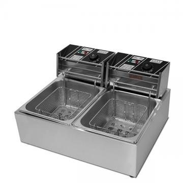 Commercial Two Tank Electric Chicken Deep Fryer with Two Basket